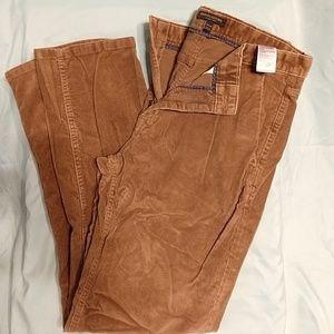 Brown corduroy men's pants 34x32
